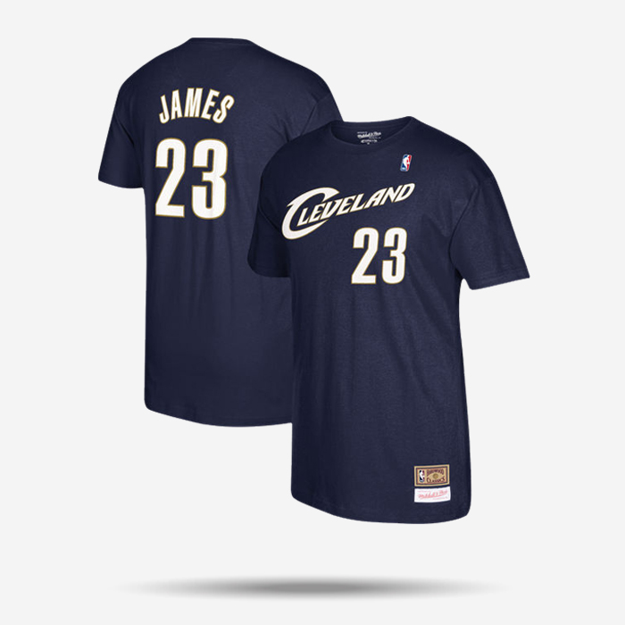 미첼엔네스 NBA 르브론 제임스 반팔티, MitchellandNess Cleveland Cavaliers Lebron James Number Tee - 풋셀스토어