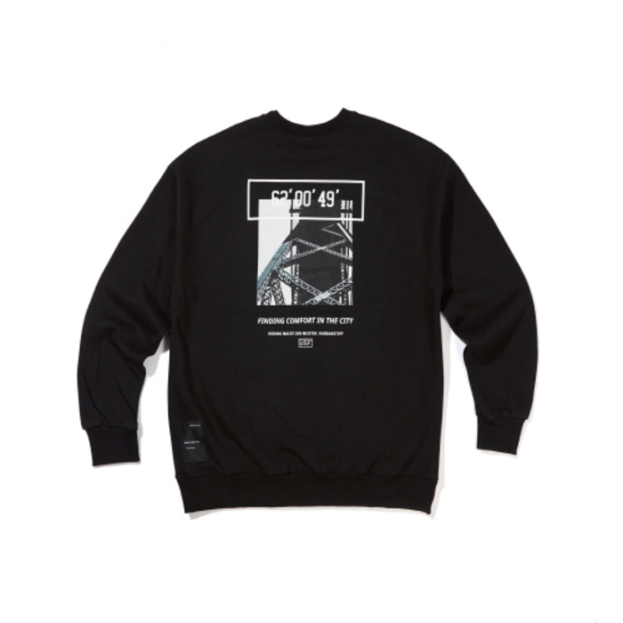 [어반스터프] USF CALL BRIDGE SWEAT SHIRTS BLACK, 맨투맨