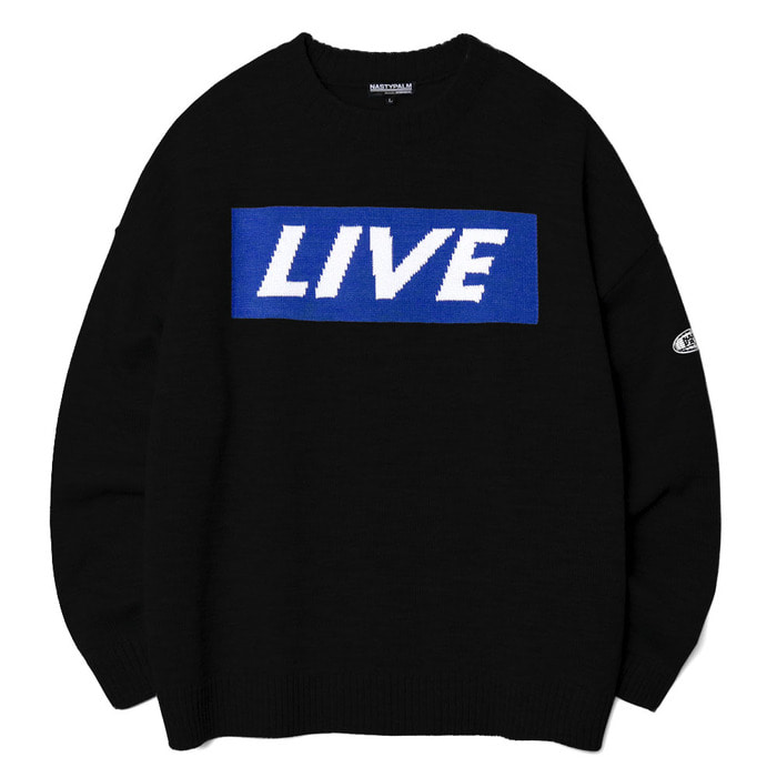 네스티팜, [NP] LIVE KNIT SWEATER BLACK (NP18A015H) - 풋셀스토어