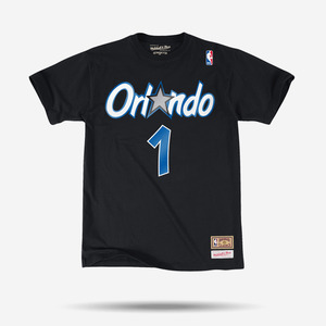 미첼엔네스 NBA 페니하더웨이 반팔티, Orlando Magic Penny Hardaway Mitchell & Ness Black Hardwood Classics
