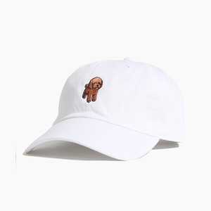[WARF] Cotton Ballcap Poodle White, 모자, 볼캡