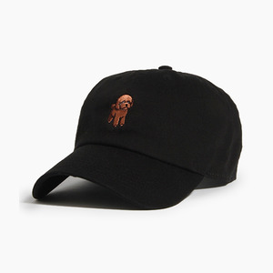 [WARF] Cotton Ballcap Poodle Black, 모자, 볼캡