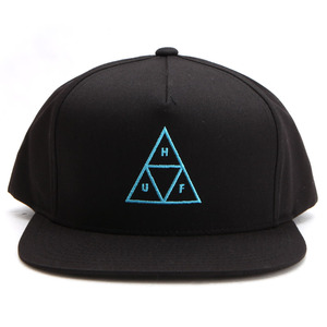 [허프]TRIPLE TRIANGLE SNAPBACK (BLACK) [HUFHT00045-BLK]