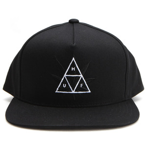 [허프]TRIPLE TRIANGLE SNAPBACK CAP (BLACK) [HUFHT75602-BLK]