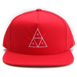 [허프]TRIPLE TRIANGLE SNAPBACK CAP (RED) [HUFHT75602-RED]
