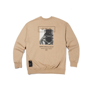 [어반스터프] USF CALL BRIDGE SWEAT SHIRTS BEIGE, 맨투맨