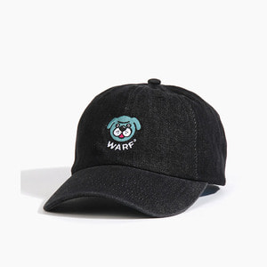 [WARF] Warf Big Face Cap Denim Black, 워프 모자 - 풋셀스토어