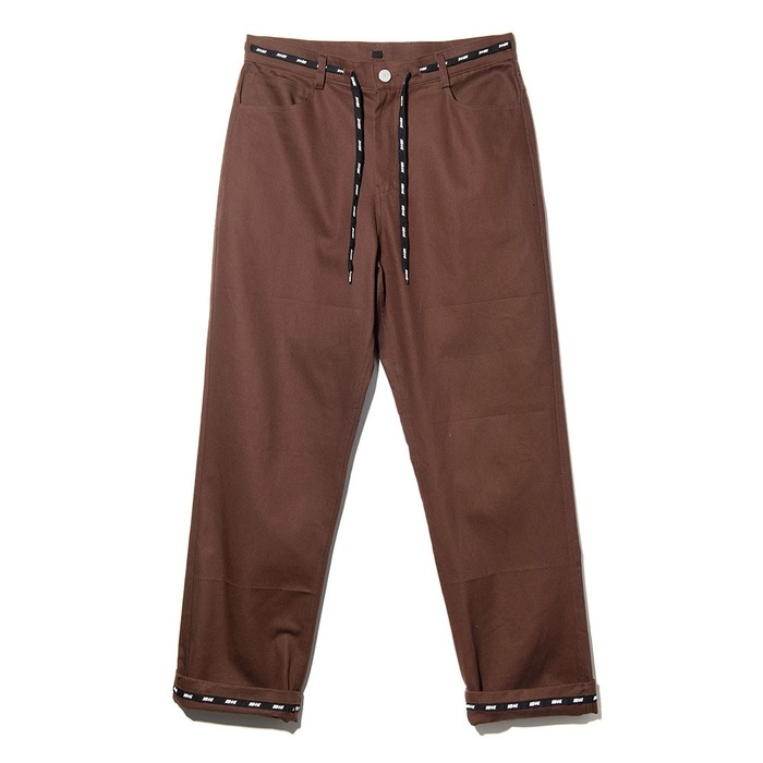 네스티킥, NSTK WRAPT PANTS BROWN (NK18A035H) - 풋셀스토어