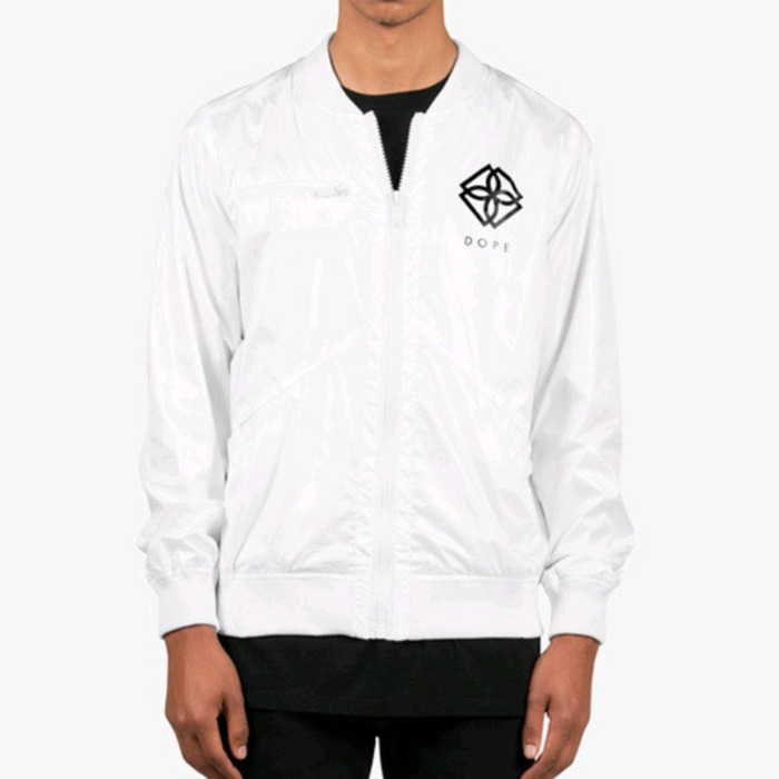[도프]DOPE Monogram Windbreaker (White) - 풋셀스토어