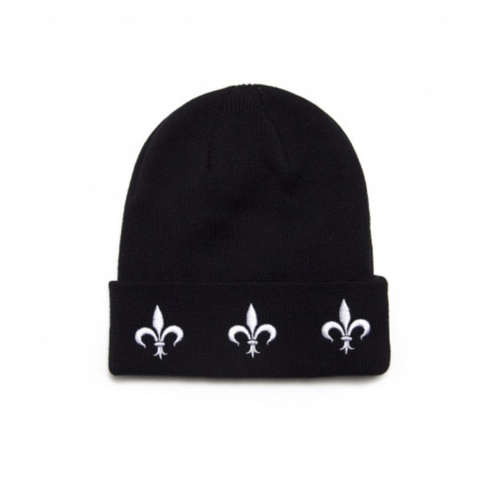 [블랙스케일]BLACKSCALE The Fleur Beanie (Black) - 풋셀스토어