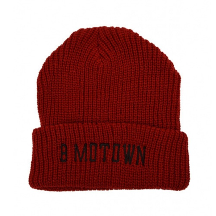 [블랙스케일]BLACKSCALE Marvin Motown Beanie, Red - 풋셀스토어