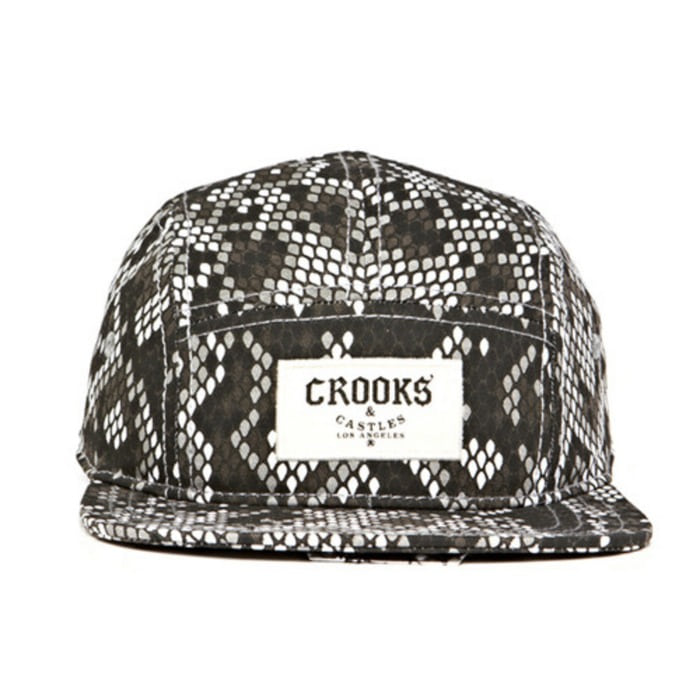 [크룩스앤캐슬]CROOKS & CASTLES Mens Knit 5 Panel Cap - Jungle Fever [3] - 풋셀스토어