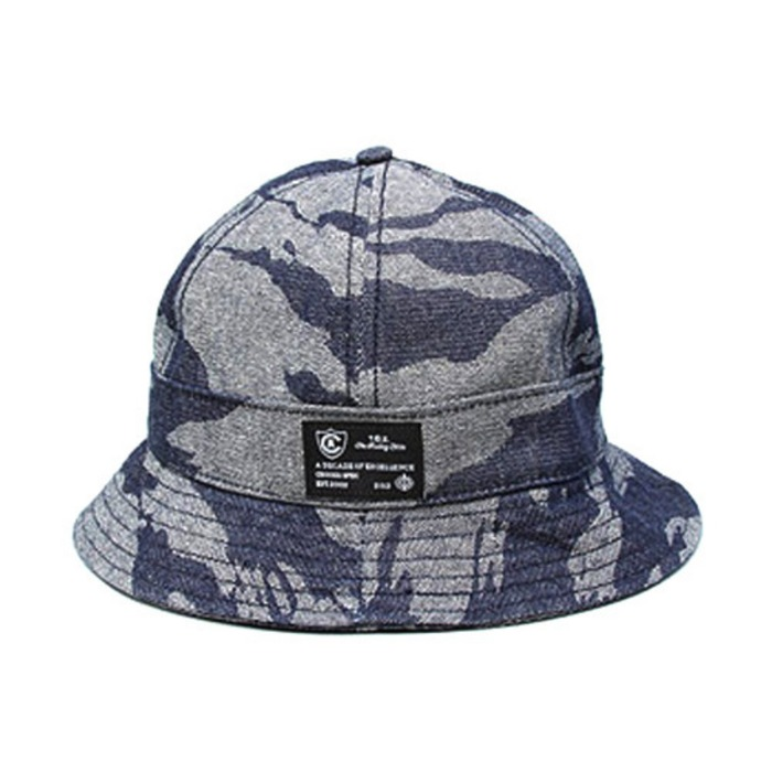 [크룩스앤캐슬]CROOKS & CASTLES Mens Woven Cap - Tiger Denim Bucket - 풋셀스토어
