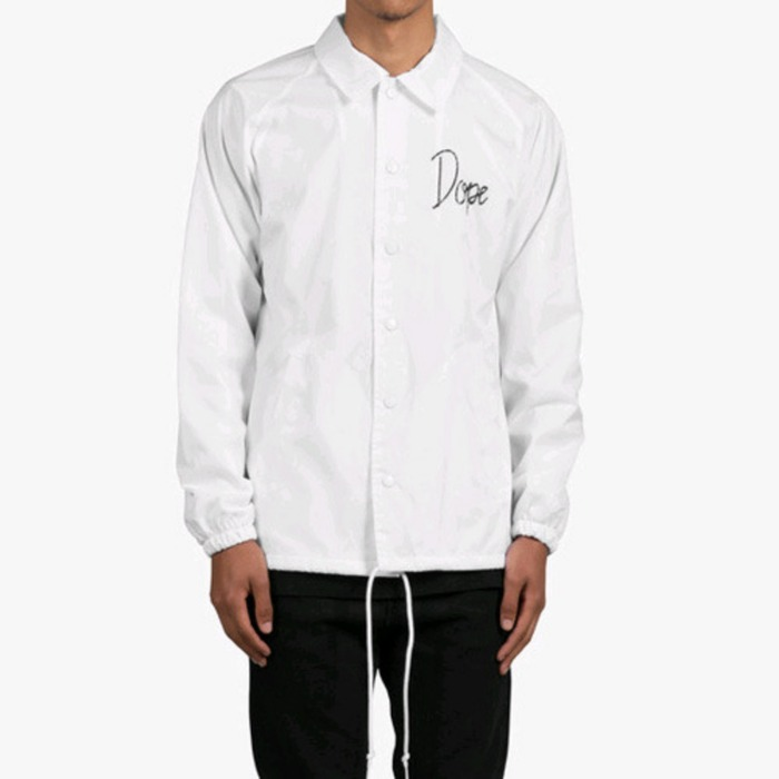 [도프]DOPE Worldwide Tour Coaches Jacket (White) - 풋셀스토어