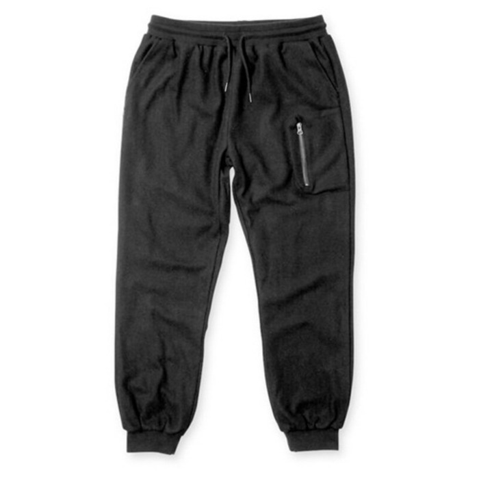 [크룩스앤캐슬]CROOKS & CASTLES Woven Melton Jogger - Capitol (Black) - 풋셀스토어