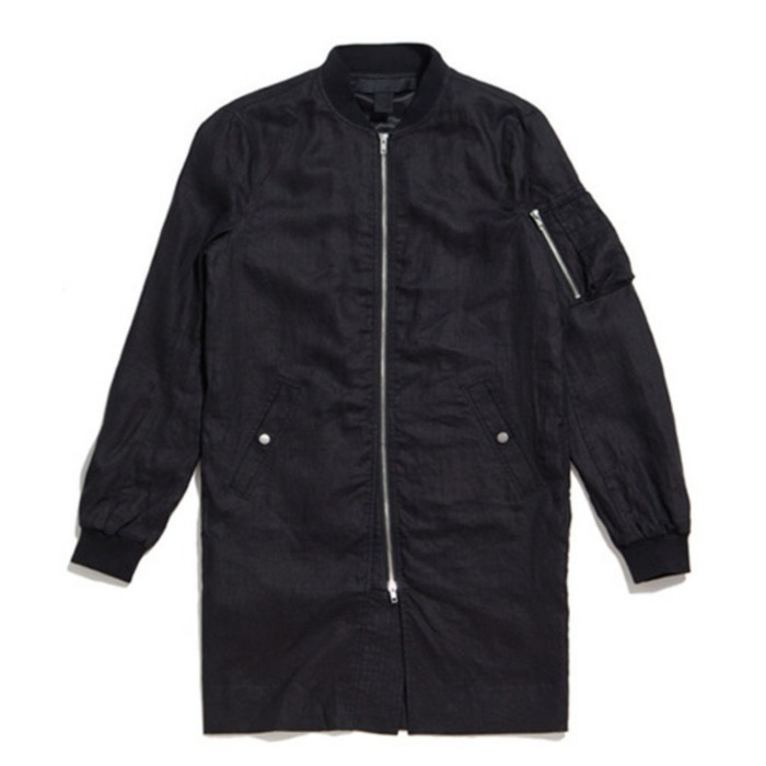 [블랙스케일]BLACKSCALE MA-1 EXTENDED JACKET (Black) - 풋셀스토어