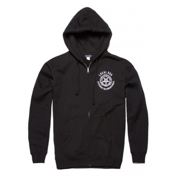 [블랙스케일]BLACKSCALE Local 666 Zip Hoody, Black - 풋셀스토어