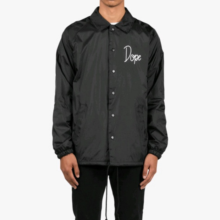 [도프]DOPE Worldwide Tour Coaches Jacket (Black) - 풋셀스토어