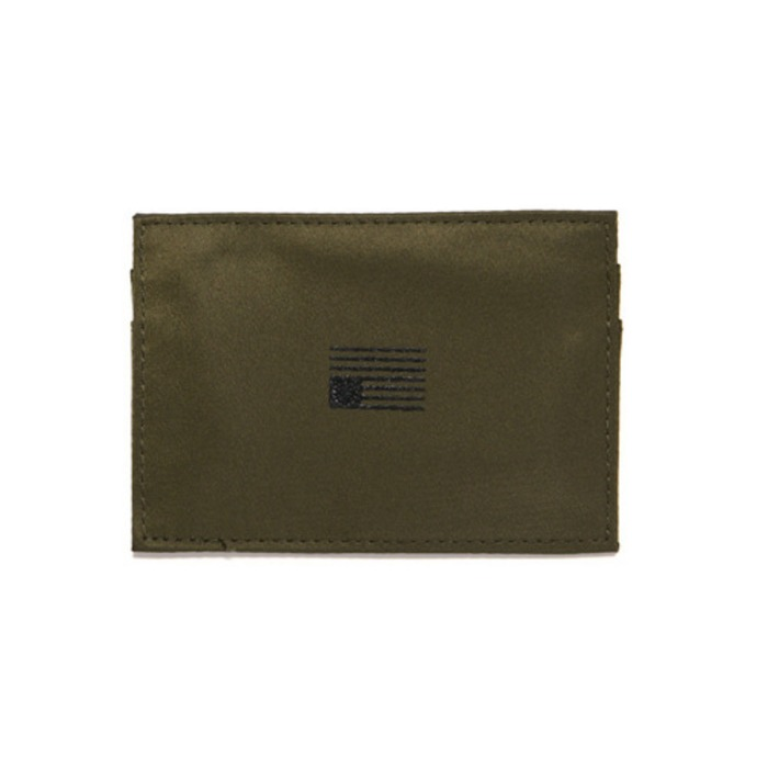 [블랙스케일]BLACK SCALE NYLON CARD WALLET (OLIVE) - 풋셀스토어