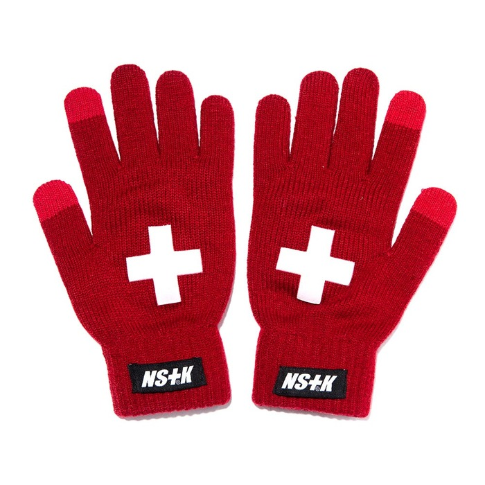 네스티킥, [NK] NSTK CROSS GLOVES RED (NK18A101H) - 풋셀스토어