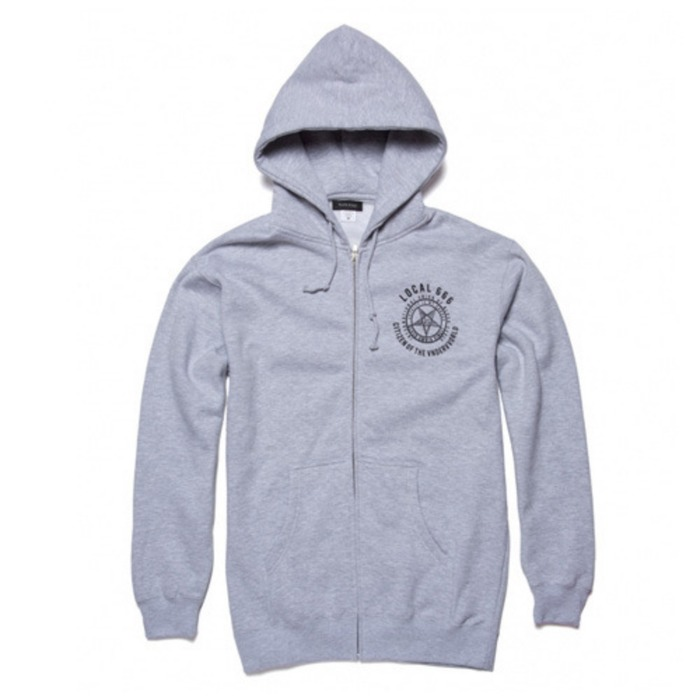 [블랙스케일]BLACKSCALE Local 666 Zip Hoody, GREY - 풋셀스토어