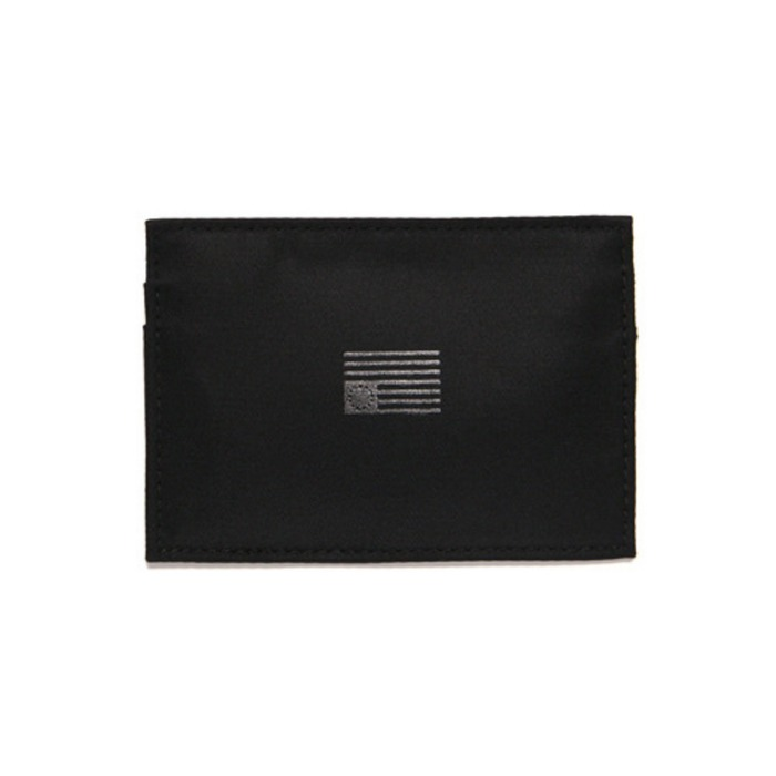 [블랙스케일]BLACK SCALE NYLON CARD WALLET (BLACK) - 풋셀스토어