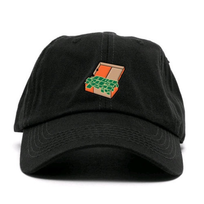 [애니메메스]ANY MEMES Cash box STRAPBACK (BLACK) - 풋셀스토어