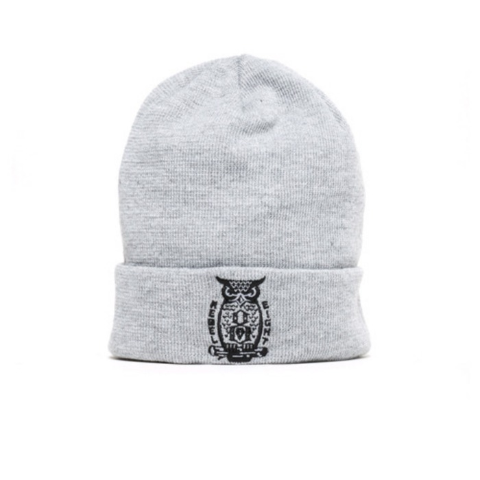 [레벨에잇]REBEL8 NIGHT WATCH Cuffed Beanie (GREY) - 풋셀스토어