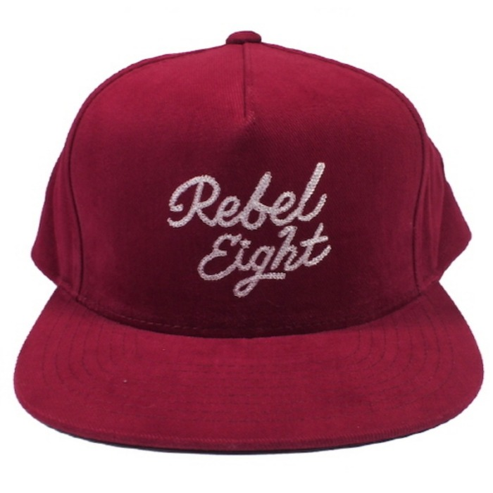 [레벨에잇]REBEL8 ROSE AND DAGGERS SNAPBACK  (BURGUNDY) - 풋셀스토어