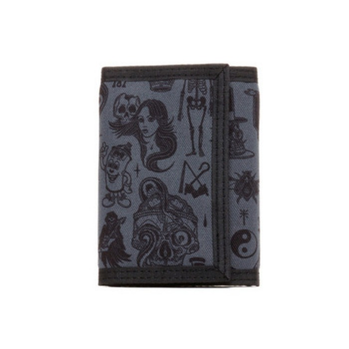 [레벨에잇]REBEL8 GIANT FLASH VELCRO WALLET (BLACK) - 풋셀스토어