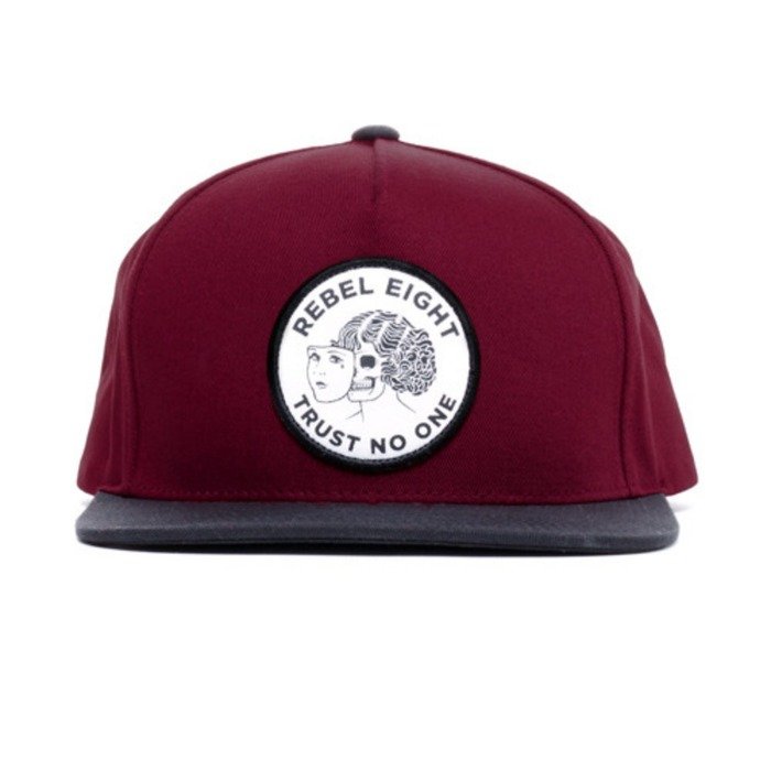 [레벨에잇]REBEL8 TWO FACED SNAPBACK (BURGUNDY) - 풋셀스토어