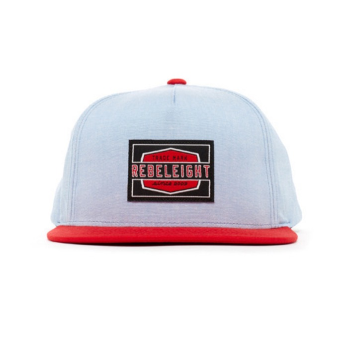 [레벨에잇]REBEL8 WORK BADGE CHAMBRAY SNAPBACK - 풋셀스토어