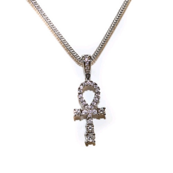 [디자인바이티에스에스]Design By TSS SILVER MEDIUM ANKH Necklace (SILVER) - 풋셀스토어