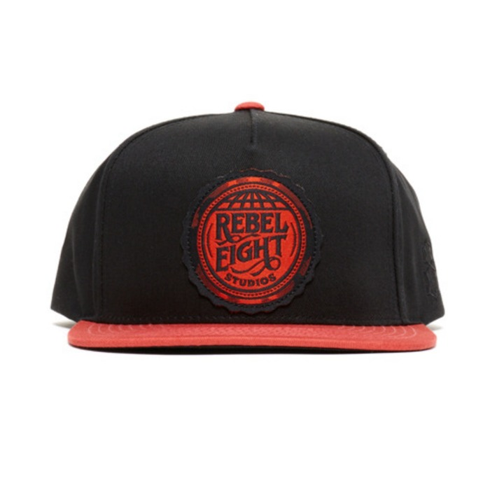 [레벨에잇]REBEL8 REBEL EIGHT STUDIOS Snapback (BLACK) - 풋셀스토어