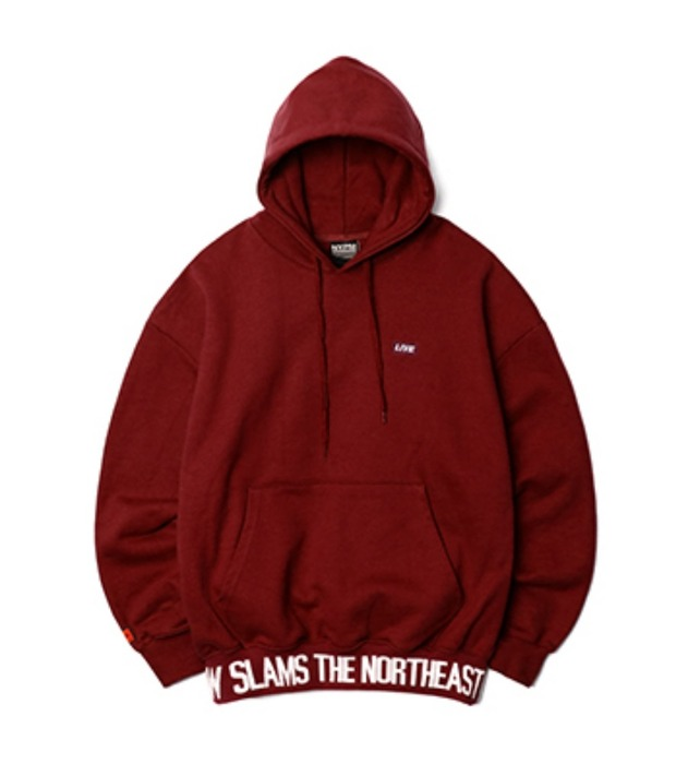 네스티팜, [NP] BREAKING NEWS OVERSIZED HOODIE BURGUNDY (NP18A052H) - 풋셀스토어