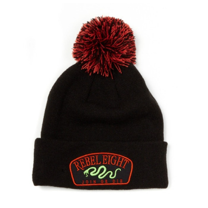 [레벨에잇]REBEL8 JOIN OR DIE POM BEANIE - 풋셀스토어