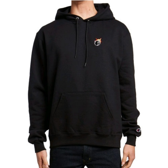 [더헌드레드]THE HUNDREDS X CHAMPION Crest Adam Pullover BLK - 풋셀스토어