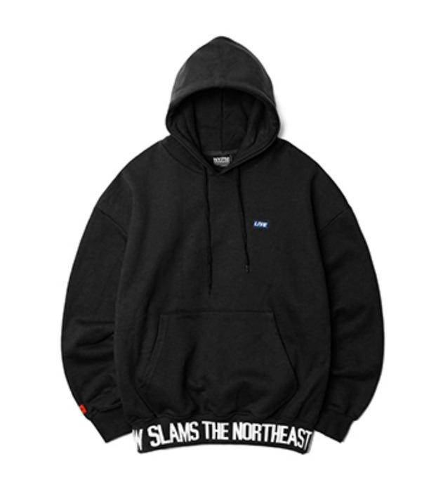 네스티팜, [NP] BREAKING NEWS OVERSIZED HOODIE BLACK (NP18A052H) - 풋셀스토어