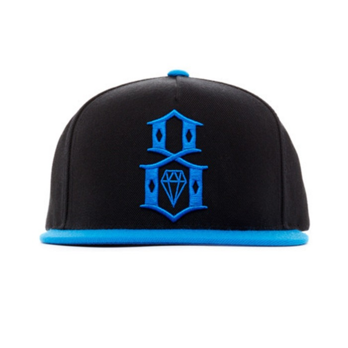 [레벨에잇]REBEL8 SPRING LOGO BLACK SNAPBACK - 풋셀스토어