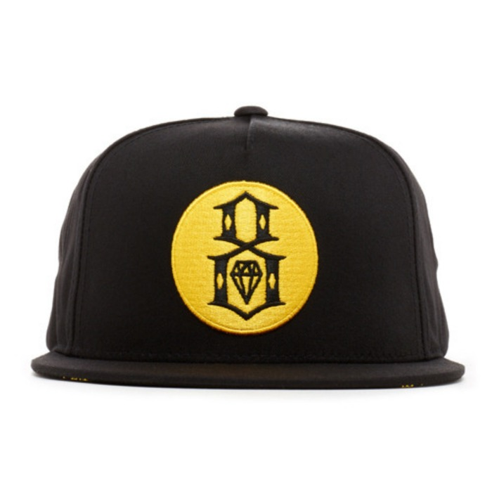 [레벨에잇]REBEL8 ROUND LOGO BLACK SNAPBACK - 풋셀스토어