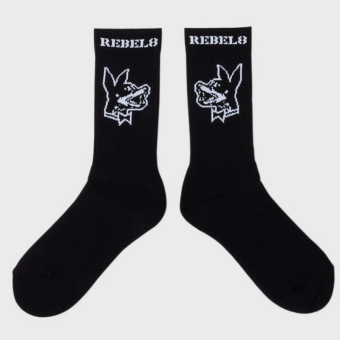 [레벨에잇]REBEL8 PROPER FUCKED SOCKS  (BLACK) - 풋셀스토어