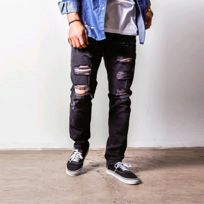 [러스틱다임]RUSTIC DIME TAPER FIT DENIM (ASH BLACK) - 풋셀스토어