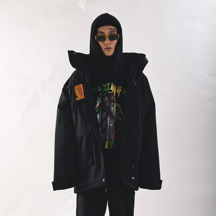 [COUPDEGRACE] PVC SHELL PARKA (BLACK), 쿠드그라스 - 풋셀스토어
