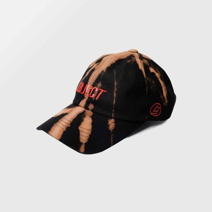 오브젝트 BLEACH OBJECT LOGO CAP (BLACK_RED) - 풋셀스토어