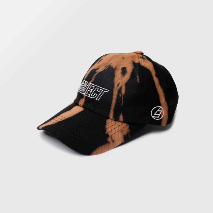 오브젝트 BLEACH OBJECT LOGO CAP (BLACK_WHITE) - 풋셀스토어