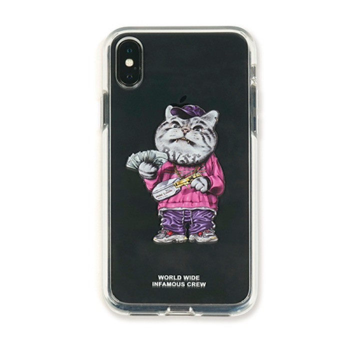 스티그마 STIGMA PHONE CASE CATSGANG CLEAR iPHONE Xs / Xs MAX / Xr - 풋셀스토어