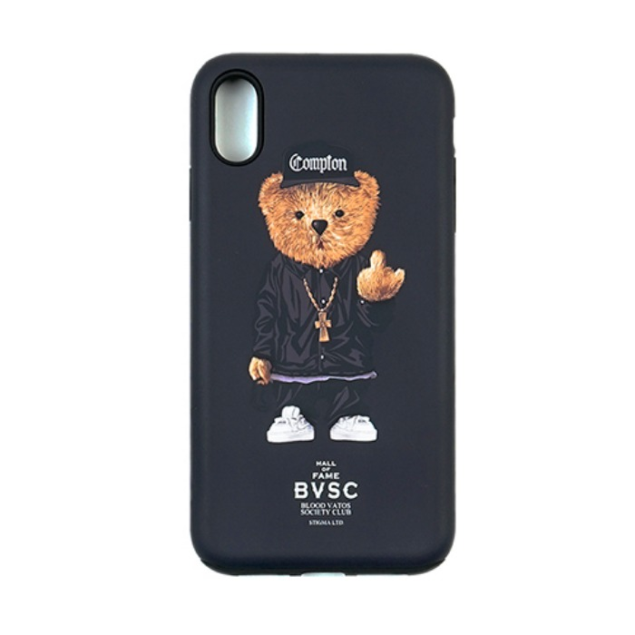 스티그마 STIGMA PHONE CASE COMPTON BEAR BLACK iPHONE Xs / Xs MAX / Xr - 풋셀스토어