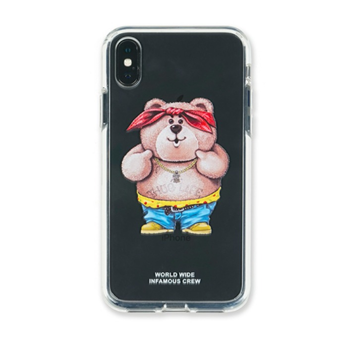 스티그마 STIGMA PHONE CASE THUG BEAR CLEAR iPHONE Xs / Xs MAX / Xr - 풋셀스토어