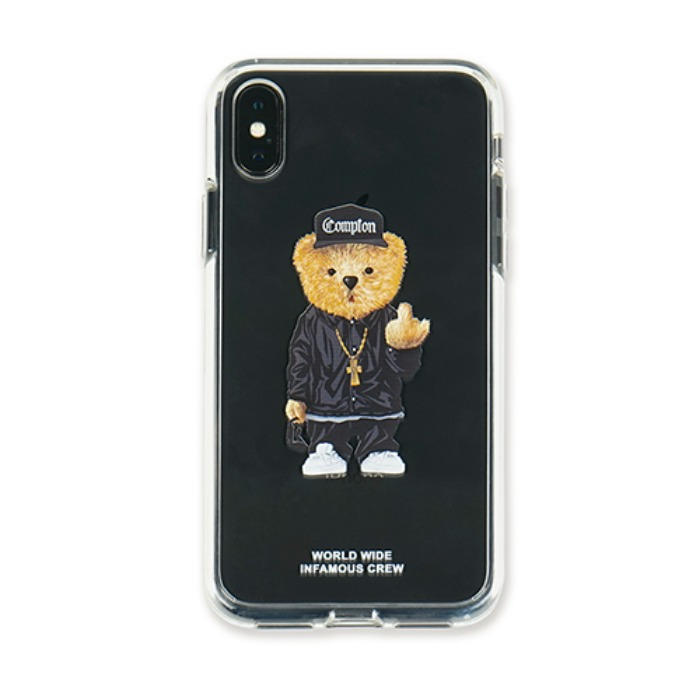 스티그마 STIGMA PHONE CASE COMPTON BEAR CLEAR iPHONE Xs / Xs MAX / Xr - 풋셀스토어