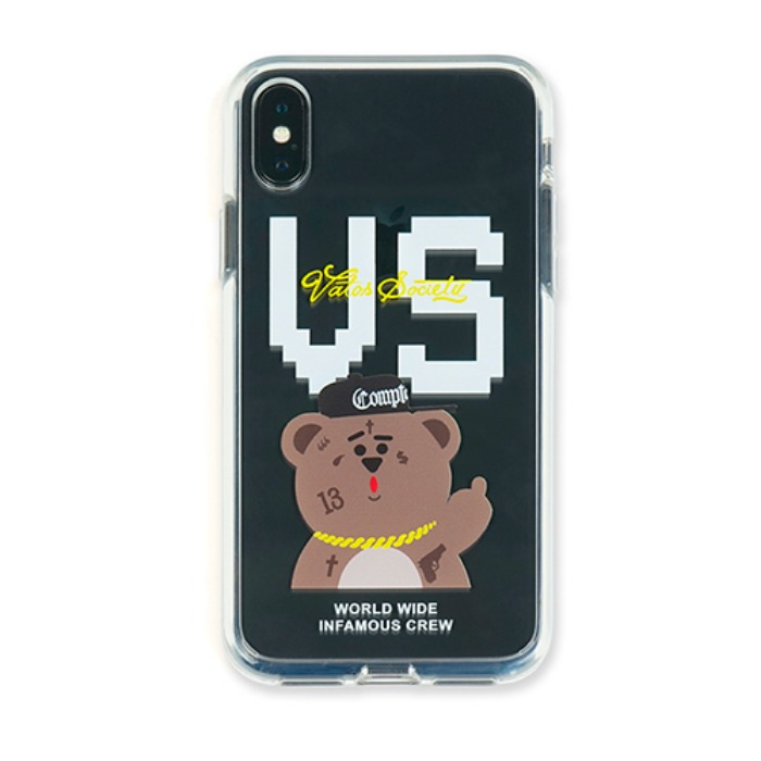 스티그마 STIGMA PHONE CASE VS BEAR CLEAR iPHONE Xs / Xs MAX / Xr - 풋셀스토어